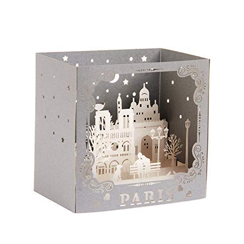 Paper Spiritz Romantic Castle Couple Pop Up Christmas Cards Boxed, 3D Birthday Card, Handmade Valentine's Day Card, Laser Cut Wedding Anniversary Card, Thinking of You Card, Thank You Greeting Card