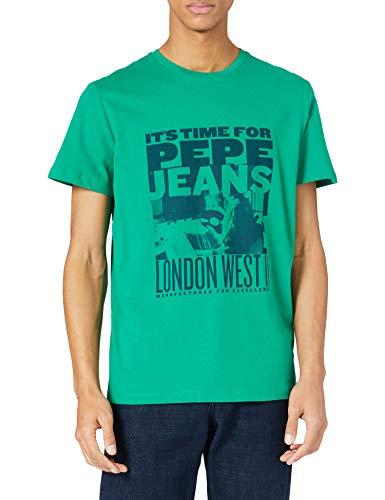 Pepe Jeans Alexis Camiseta, 651emerald, XL para Hombre