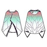 Amycute ブランケット フード付き 着る毛布 ルームウェア 肩掛け ショール マント 和柄 生地 もこもこ かわいい
