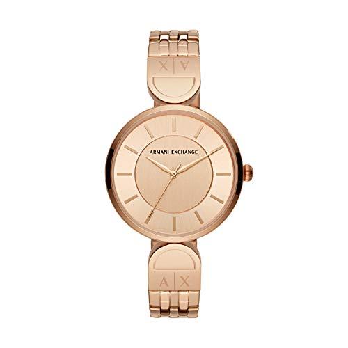 Armani Exchange Reloj Analogico para Mujer de Cuarzo con Correa en Acero Inoxidable AX5328