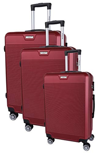 RODIER Set de 3 Valises Juego Maletas, 50 cm, Rojo (Rouge)