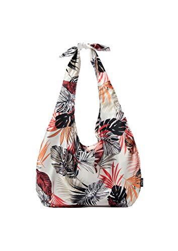 s.Oliver (Bags) Damen Strandtasche, 02A1 Off-White AOP, Einheitsgröße