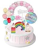 Camelize Einhorn Tortendeko Geburtstag,Kinder Einhorn Kuchen Topper,Happy Birthday Girlande,...