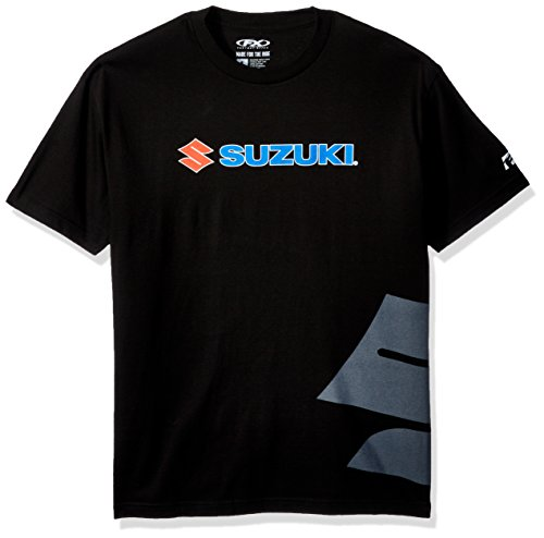 Factory Effex 15-88472 Suzuki Big 'S' T-Shirt (Black, Large)
