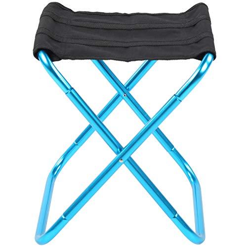 cigemay Silla Plegable para Acampar, Mini Silla Plegable, Resistente Compacto Práctico Pesca para Acampar Senderismo Picnic