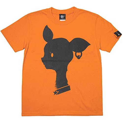 Bambi Mark Tシャツ (オレンジ) sp080tee-or -G- バンビ ばんび ロゴマーク かわいい 橙色 半袖 (サイズ160(XS))