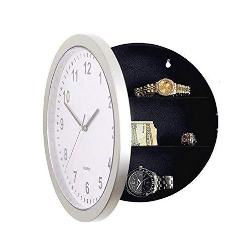 Katigan Caja Fuerte del Reloj Cajas Fuertes Secretas Oculta Reloj De Pared para Escondite Secreto Dinero en Efectivo Joyas Caja De Almacenamiento De Compartimiento De Reloj De Pared