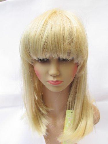 Fat-catz-copy-catz Qualité longue blond Mesdames Bob perruque coupe carrée avec frange Synthétique japonais fibres, longueur 40 cm, perte de cheveux, Alopécie, etc