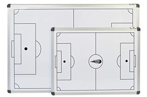 POWERSHOT Taktiktafel Fußball - 3 Verschiedene Größen zur Auswahl - Taktiboard Inkl. Magnete und Filzstift mit Schwamm (60 x 45 cm)