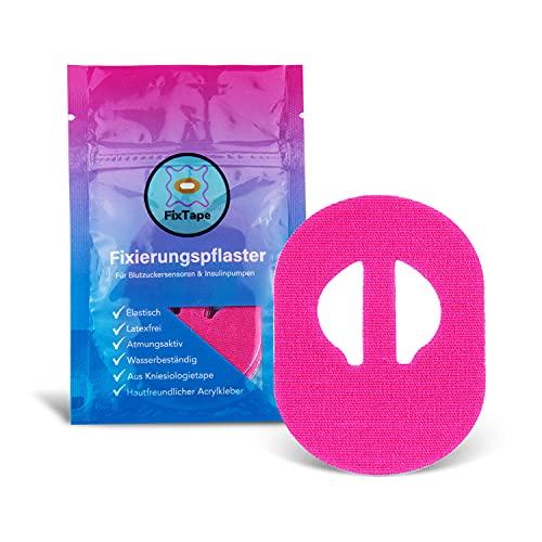 FixTape atmungsaktives Sensor-Tape für Medtronic Enlite I selbstklebendes Patch für Glukose-Sensor mit hohem Trage-Komfort I hautfreundlich und wasserfest in modernen Designs I 7 Stück (Pink)