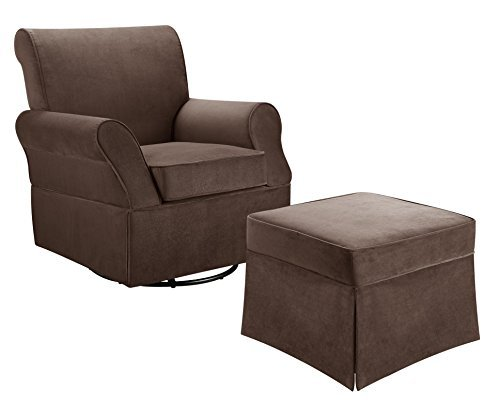 Baby Relax Kelcie Swivel Glider and Ottoman, Comet Coffee