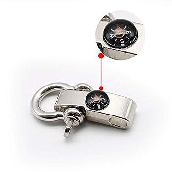 KLEHOPE 3 Pièces Alliage Bracelet de Survie, Bracelets de Survie en Corde Boussole Intégrée, Bracelets de Survie Peut Étre Utilisé pour la Randonnée, la Pêche, Le Camping