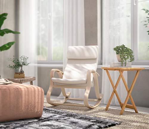 Premier Housewares - Mesa Auxiliar Plegable de Madera, 49 x 39 x 65cm, Color marrón Claro