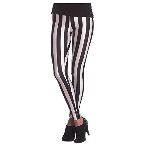Orlob Handelsagentur NEU Leggings gestreift, schwarz-weiß, Größe S-M