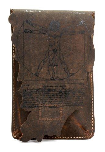 LANDLEDER Leder Gürteltasche / iPhone Tasche Phony ECHT LEDER dunkelbraun Unisex - Erwachsene, Herren, Damen