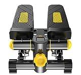 Cinta de correr Máquina de pérdida de peso Escalera Step Up Bicicleta de ejercicio de pie Mini entrenadores elípticos Pedal paso a paso con resistencia ajustable y pantalla LCD Ejercicio de peddle