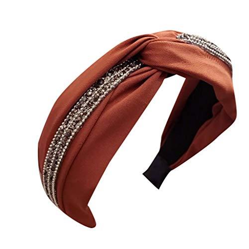 Yvelands Damen Mode Stirnbänder Breit Haarbänder Bogen Knoten Haarband Frauen Haar Kopfband Einfache Süße Mädchen Haar Stirnband Haarschmuck (1PC, D)