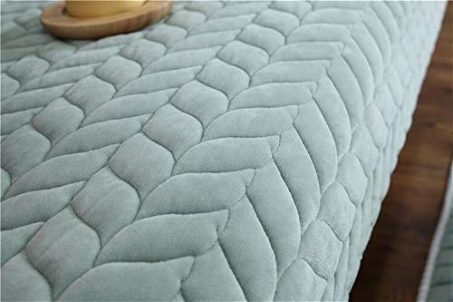 Housse de Canapé Tissu Épaissir en peluche Sofa dentelle antidérapante Housse Siège Couch Couverture Sofa Serviette for Living Room Decor (Color : Green, Specification : 45x45cm pillow case)