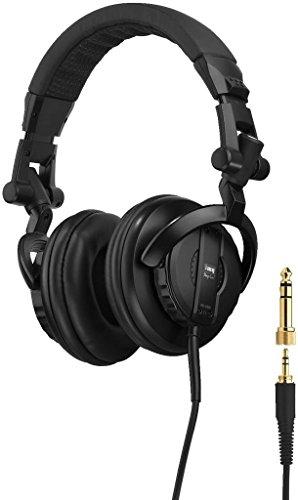 IMG STAGELINE MD-6000 DJ-Stereo-Kopfhörer, geschlossenes Over-Ear System, Headphones mit gepolsterten Ohr-Kissen, in Schwarz