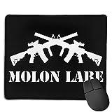 Molon Labe Cruzado Ar-15 Antideslizante Alfombrilla Raton Ordenador,Alfombrilla Gaming Precisión,Base De Goma 25X30Cm