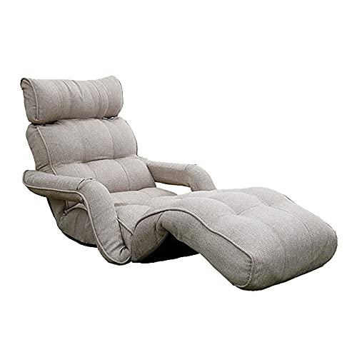 JINGGEGE - Poltrona da salotto per cinema, comoda poltrona relax, in tessuto di policotone, colore: beige