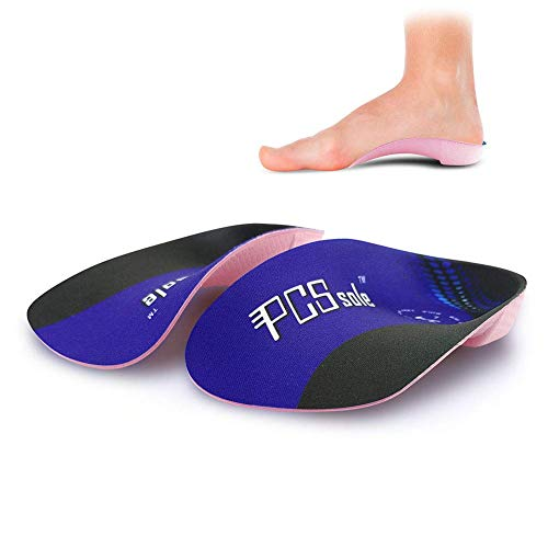 PCSsole 3/4 Orthopädische Einlegesohlen für Plattfüße, Plantarfasziitis, Fersensporn, halbe Schuheinlagen mit hoher Fußgewölbe, Schuhe Einlagen lindern Fersenschmerzen für Damen & Herren L:EU-(38-42)