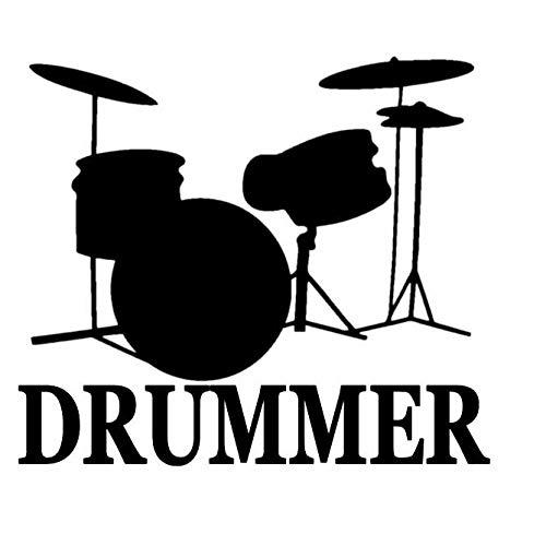 PUBSKFKJ 14.3Cm * 12.5Cm Drummer Snare Bass Pedal Drumset Drum High Hat Vinyl Autoaufkleber-A