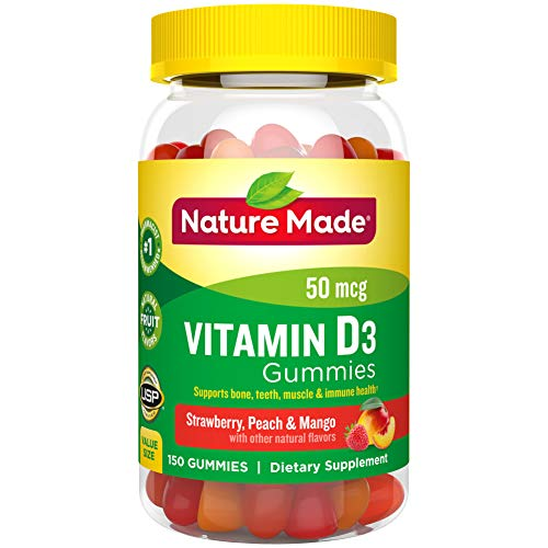 Price comparison product image Nature Made Vitamin D3 2000 IU (50 mcg) Gummies,  150 Count for Bone Health (Packaging May Vary)