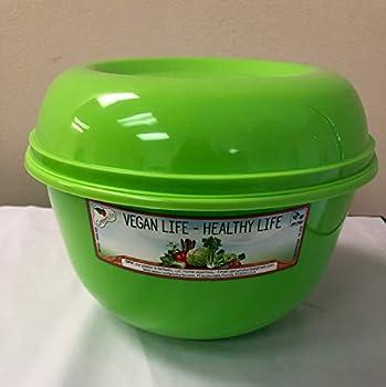 LETTUCE CRISPER-SALAD KEEPER-LETTUCE SAVER+ SPIKES-BPA FREE 118 FL OZ-VEGETABLE & FRUIT SAVER GREEN