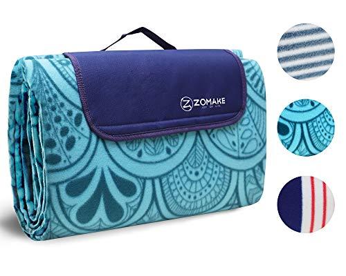 ZOMAKE Grande Couverture Tapis de Pique-Nique Pliable Portable Imperméable, Couverture étanche Con avec Poignée...