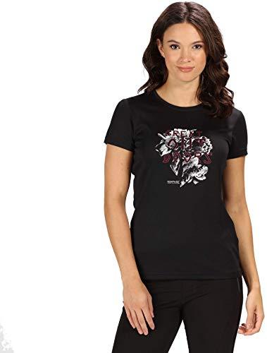 Regatta Damen Fingal Iv schnelltrocknendes Sport-T-Shirt mit UV-Schutz XL Schwarz