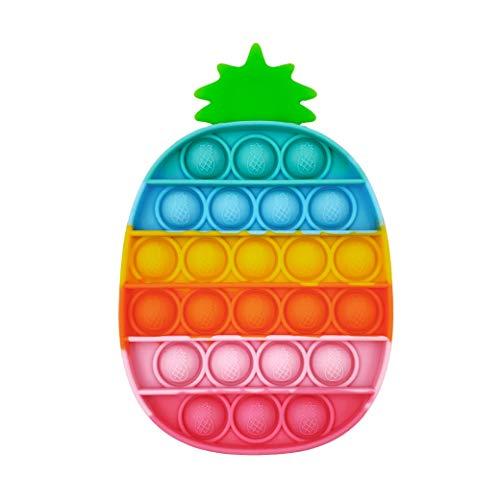 GreenBee Pop it Fidget Toy - Push Pop it Antiestres Niños - Push Pop Bubble Fidget Juguetes Antiestres - Sensorial Herramientas para Aliviar el Estrés y la Ansiedad I Piña de Colores
