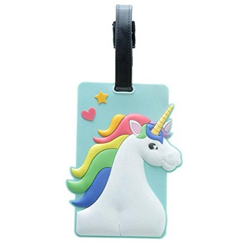1 x Enchanted Unicorn Rainbow PVC Luggage Suitcase Tag Bag