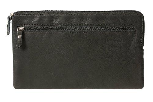 LEAS Banktasche, Geldtasche, Echt-Leder, schwarz Special-Edition