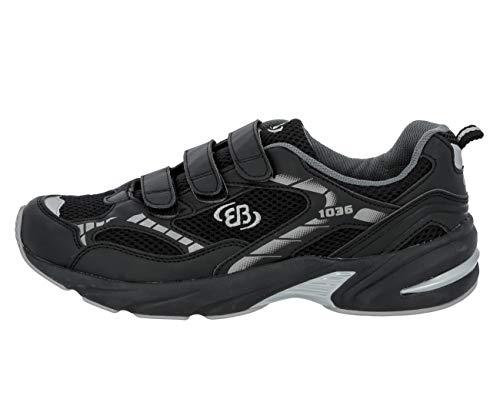 Lico - Zapatillas de deporte de nailon para hombre, Negro, 47