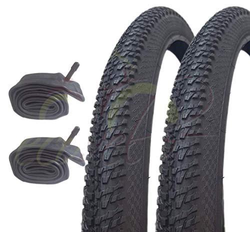 Country 2 neumáticos de Goma Negro 2 cámaras Mountain Bike MTB Bicicleta 29 x 2.125 (57-622)