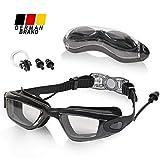 MOIMIR Schwimmbrille - Verstellbare Schwimmbrillen mit UV-Schutz - wasserdichte Taucherbrille mit Anti-Fog Funktion - für Erwachsene, Herren, Damen und Kinder