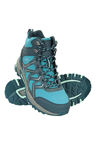 Mountain Warehouse Shadow Botas Softshell Mujer - Zapatos Forrados de Malla, Calzado con Suela de Goma, Acolchado EVA, Transpirable - Ideal para Acampar, Viajar Verde Agua Talla Zapatos Mujer 39 EU
