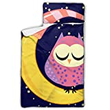 Lindo búho dormido con estrellas de luna Bolsa de dormir de viaje con ojos...