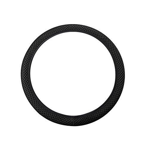Voiture Universel Housse de volant, Auto de voiture en tissu maille antidérapant volant Housse pour diamètre 36–38 cm/14–38,1 cm, Confort durabilité de sécurité – Noir