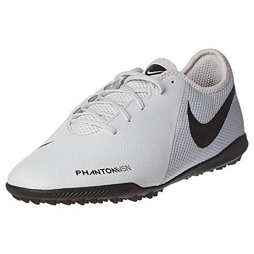 Nike Phantom Vsn Academy TF, Zapatillas de Fútbol para Hombre, Gris (Pure Platinum/Black/Lt Crimson 060), 38.5 EU