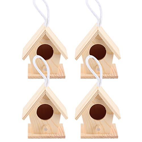 Buachois casetta per Uccelli in Legno da Appendere nidi di Riposo Gabbia per storni Mini Casette per Uccelli Decorazione da Giardino all'aperto Ornamento Arti e Mestieri