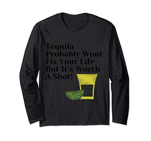 Tequila Tuesday, Tequila & Lime Langarmshirt