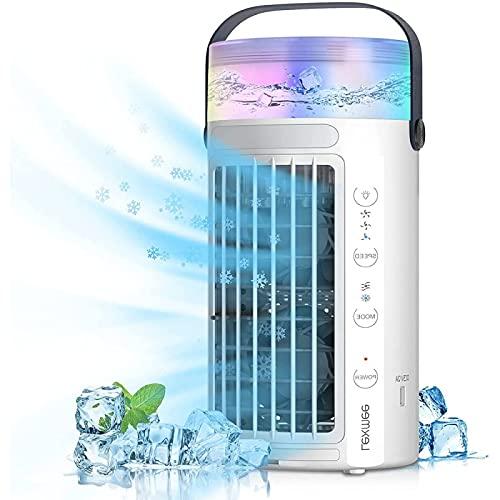 YANRU Aire Acondicionado Mini Portatil - FuncióN 4 En 1 Aire Acondicionado PortáTil USB - Bajo Consumo De EnergíA Aire Climatizador Portatil - para Cualquier HabitacióN, Oficina, Viajes, Camping