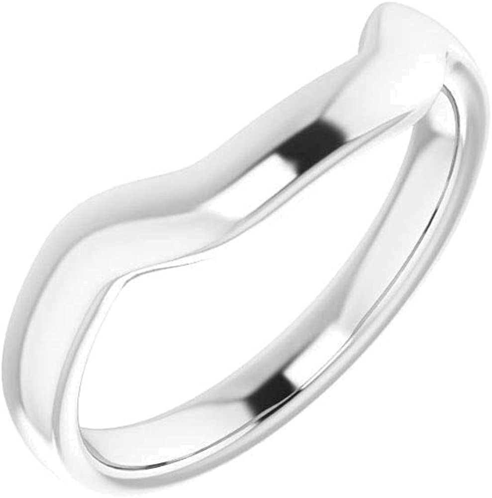 Solid Max 41% OFF Sterling Silver Band for 10mm 7 Square in Cheap bargain Size Ring