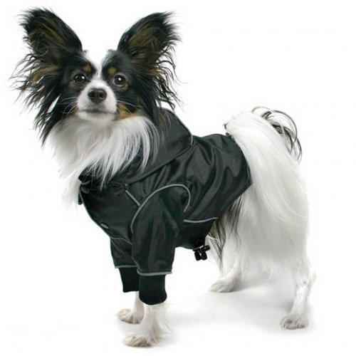 THEO Imperméable canin Noir, reflecteurs, Taille L de