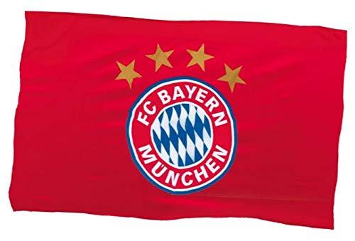 Fahnenfabrik Bandiera 150 x 100 cm Bayern München Compatibile + Sticker Monaco Forever Munich – rapeau/Fascetta/Bandiera/Bandiera/Striscione
