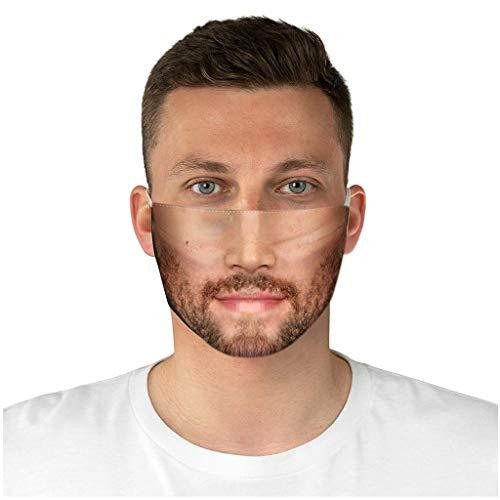 eiuEQIU Lustig Mundschutz Erwachsene Face Shield Aufdruck Gesicht aus Baumwolle - atmungsaktiver, Wiederverwendbare Outdoor Unisex Staub