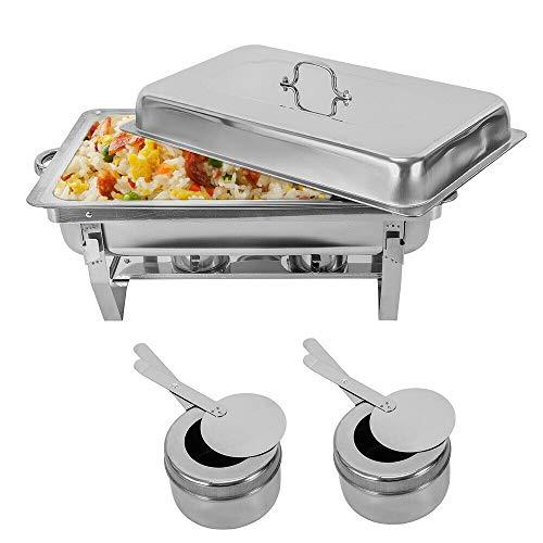 7.5L Calentador alimentos Contenedor calor Plato frotamiento Buffet 1 recipiente Calentador de...