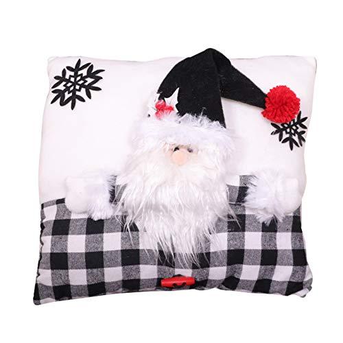 Staright Travesseiro de Natal Capa de Almofada Decorações de Natal para Sofá Sofá Quarto Carro 13 x 13 polegadas (Papai Noel)